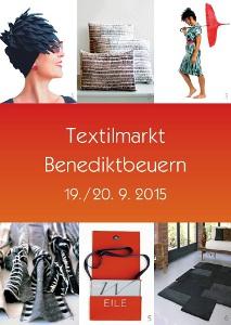 Plakat Textilmarkt Benediktbeuern 2015