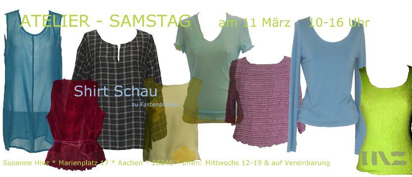 Atelier-Samstag am 11. März 2017 - Shirt Schau