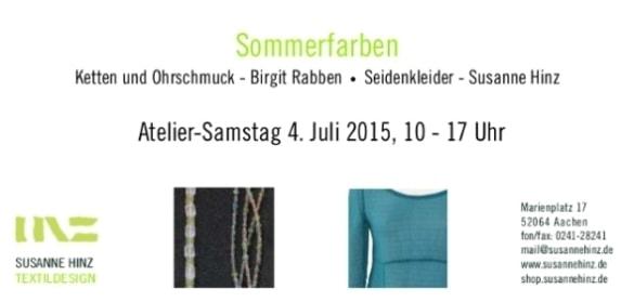 Atelier-Samstag am 04.07.2015