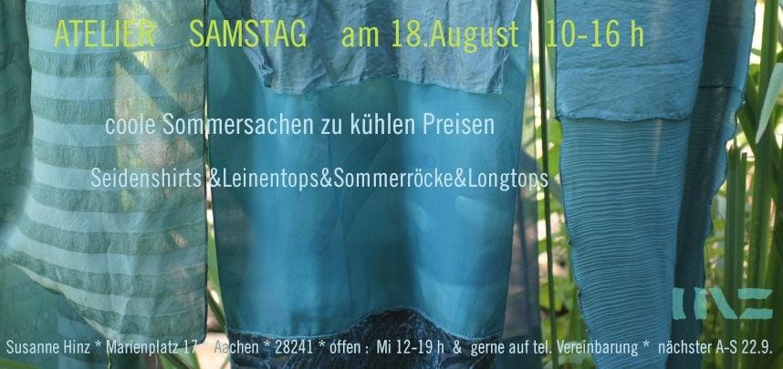 Atelier-Samstag am 18.08.2018 - Coole Sommersachen zu kühlen Preisen