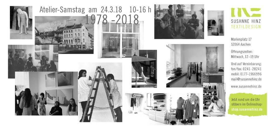 Atelier-Samstag am 24.03.2018 - 40 Jahre 1978 bis 2018