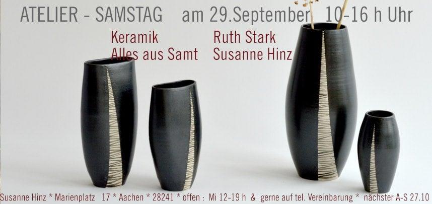 Atelier-Samstag am 29. September 2018 - Keramik und Samt