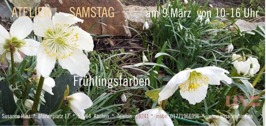Atlier-Samstag am 09. März 2019 - Frühlingsfarben