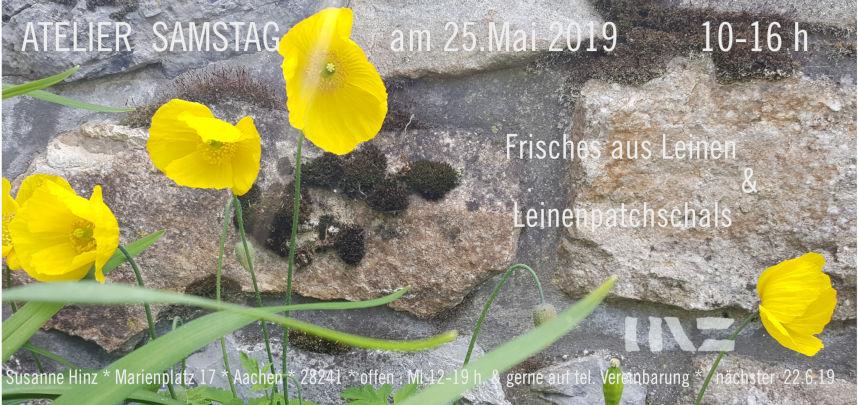 Atelier-Samstag am 25. Mai 2019 - Frisches aus Leinen