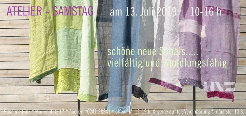 Atelier-Samstag am 13 Juli 2019 - Schöne neue Schals
