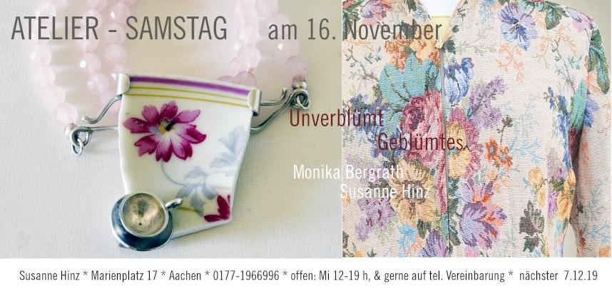 Atelier-Samstag am 16.11.2019 - Unverblümt Verblümtes