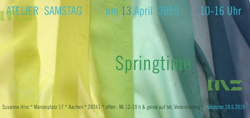 Atelier-Samstag am 13. April 2019 - Springtime