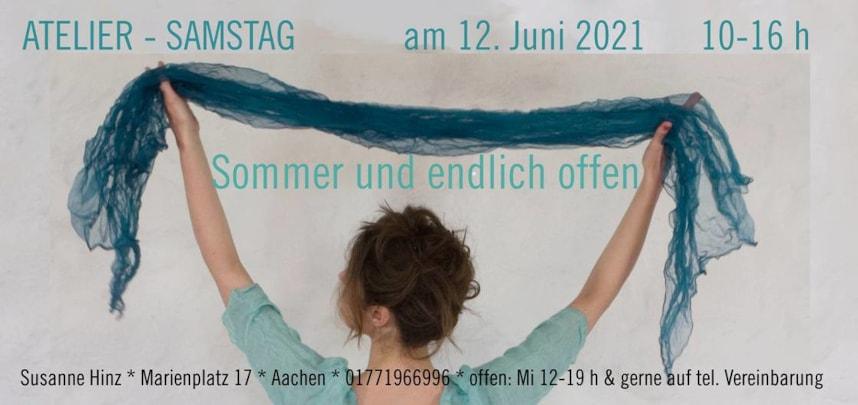 Atelier-Samstag am 12.06.2021 - Sommer und endlich offen