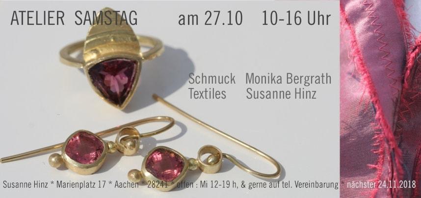 Einladung zum Atelier-Samstag - Scmuck und Textiles