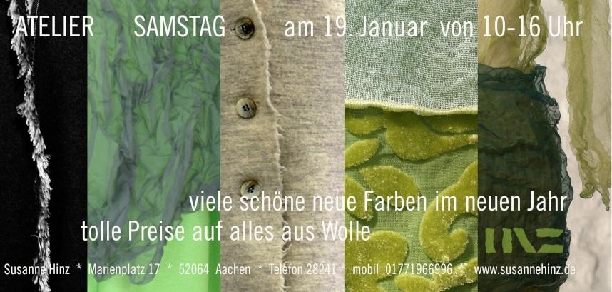 Atelier-Samstag am 19.01.2019 - viele schöne neue Farben im neuen Jahr