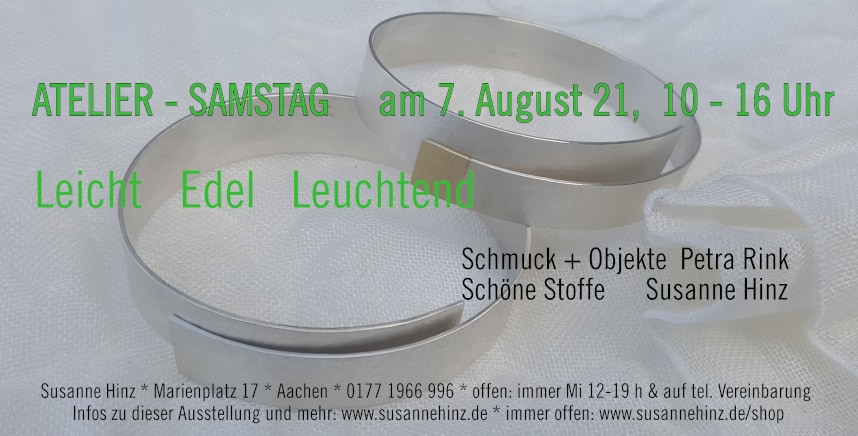 Atelier-Samstag am 07.08.2021 - Leicht * Edel * Leuchtend