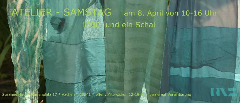 Atelier-Samstag am 8. April 2017 - 1000 und ein Schal