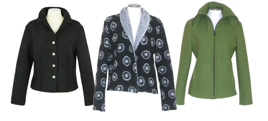 Jackenzeit - Drei Jacken aus Wolle