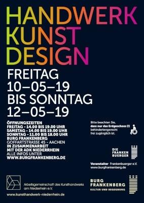 """Einladung zu """"Handwerk-Kunst-Design"""" in der Burg Frankenberg"""