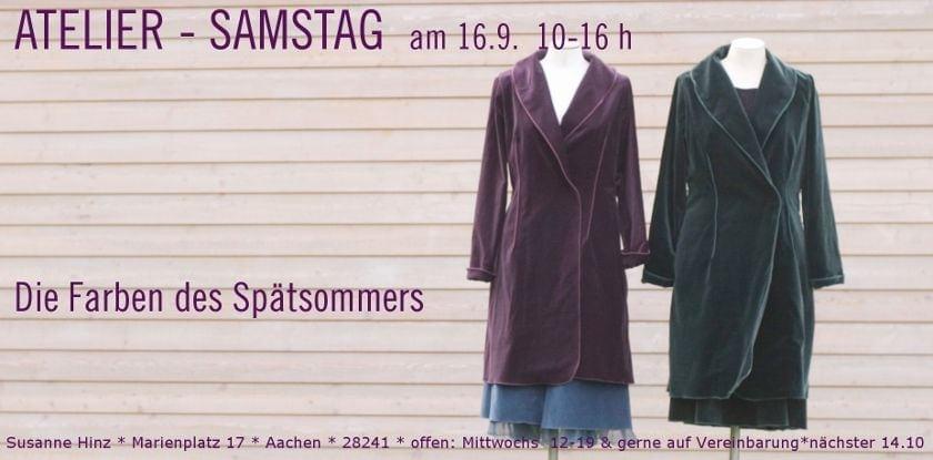 Atelier-Samstag am 16. September 2017 - Die Farben des Spätsommers