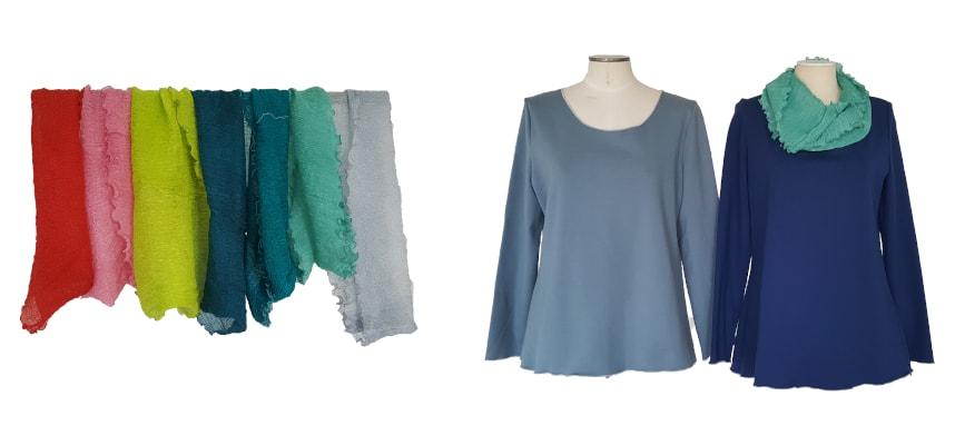 Atelier-Samstag am 29.02.2020 - Loop-Schals und Romanit-Shirts