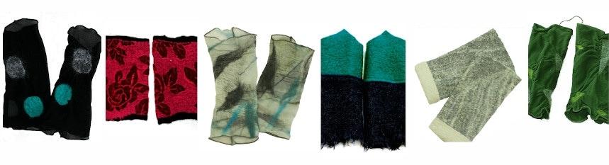Atelier-Samstag - Stulpen aus Walk und Handfilz der Sonderaktion