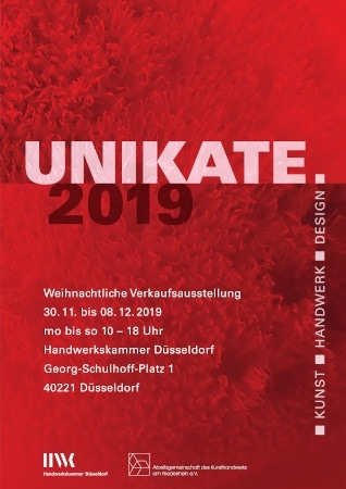 Einladung Unikate 2019 in Düsseldorf