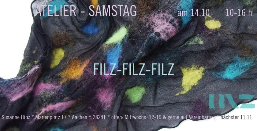 Atelier-Samstag am 14. Oktober 2017 - Filz-Filz-Filz