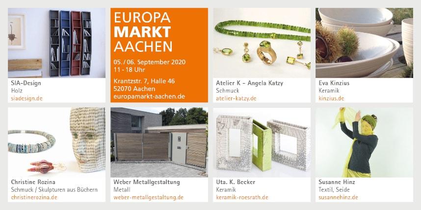 Einladung Europamarkt Aachen 2020