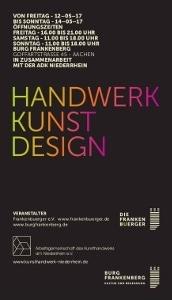 Handwerk-Kunst-Design in der Burg Frankenberg in Aachen