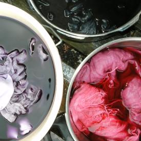Reaktiv Farbe auf Leinen