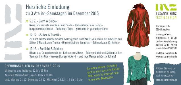 Atelier-Samstage im Dezember 2015